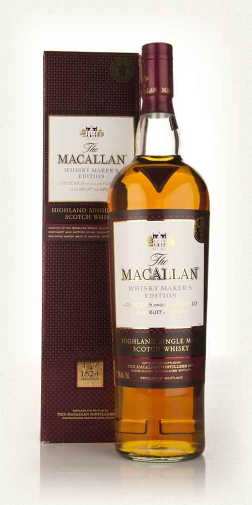 The Macallan Whisky Maker's Edition 1l Lacks complexity as well (out of the 3 travel retails from my trip to Edinburgh) and less smooth than the Red Wine Cask Glenfiddich.