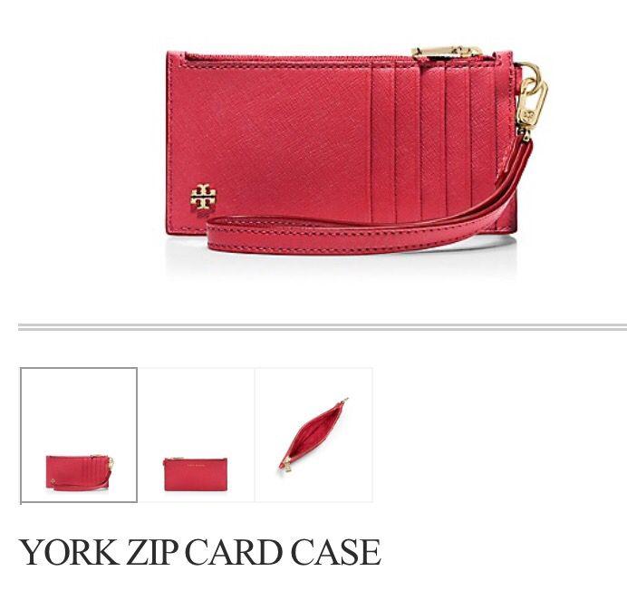 Tory burch York zip card case.
