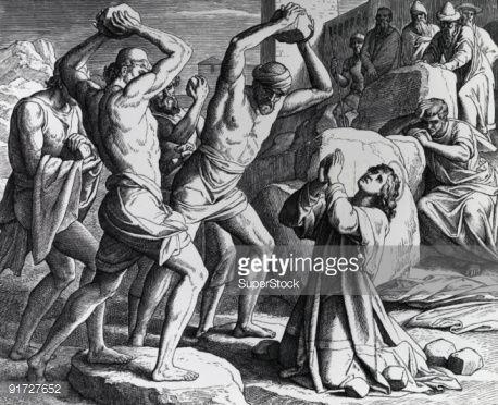 The Martyrdom of Saint Stephen - Julius Schnoor von Carolsfeld