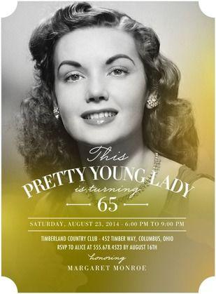 Vintage Photo Womens 75th Birthday Party Invitations