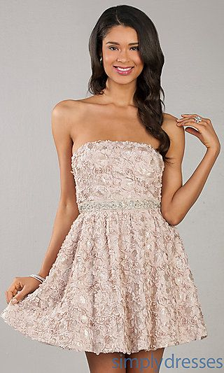 Short Strapless Party Dress by As U Wish at SimplyDresses.com