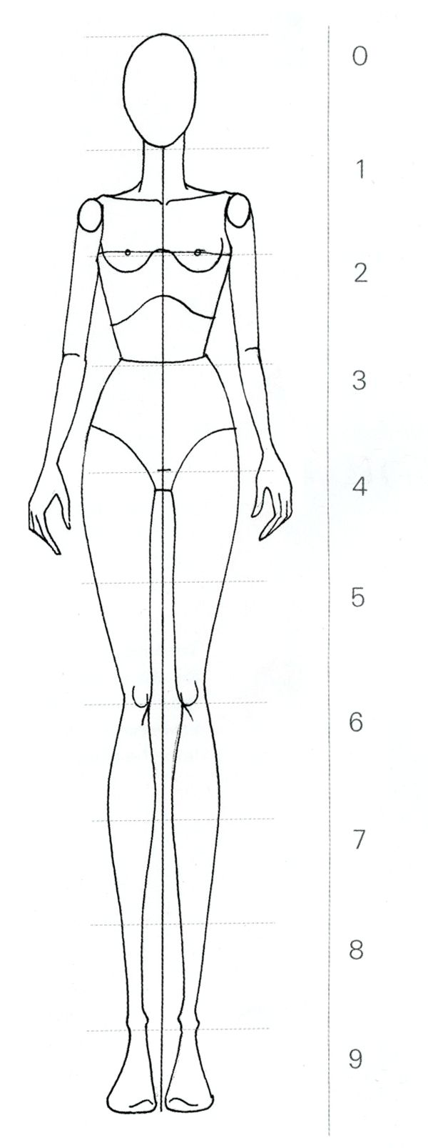 Drawing  The Nine Head Fashion Croquis  Fashion Finishing School