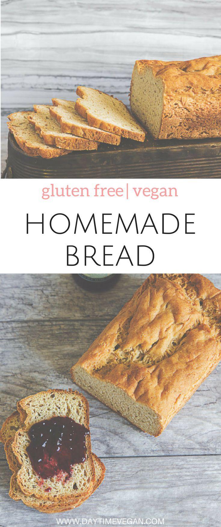 Easy Vegan & Gluten-free Homemade Bread Recipe | Easy vegan recipes for beginners | Vegan meal plans…