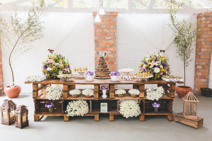 Decoração para sitio, decoração rustica, DIY, Tamires Araújo Fotografia, decoração casamento ao ar livre, decoração com paletes, bolo naked cake