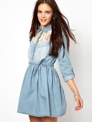 Модные женские платья-рубашки на 2016 года: на фото джинсовые и красные модели