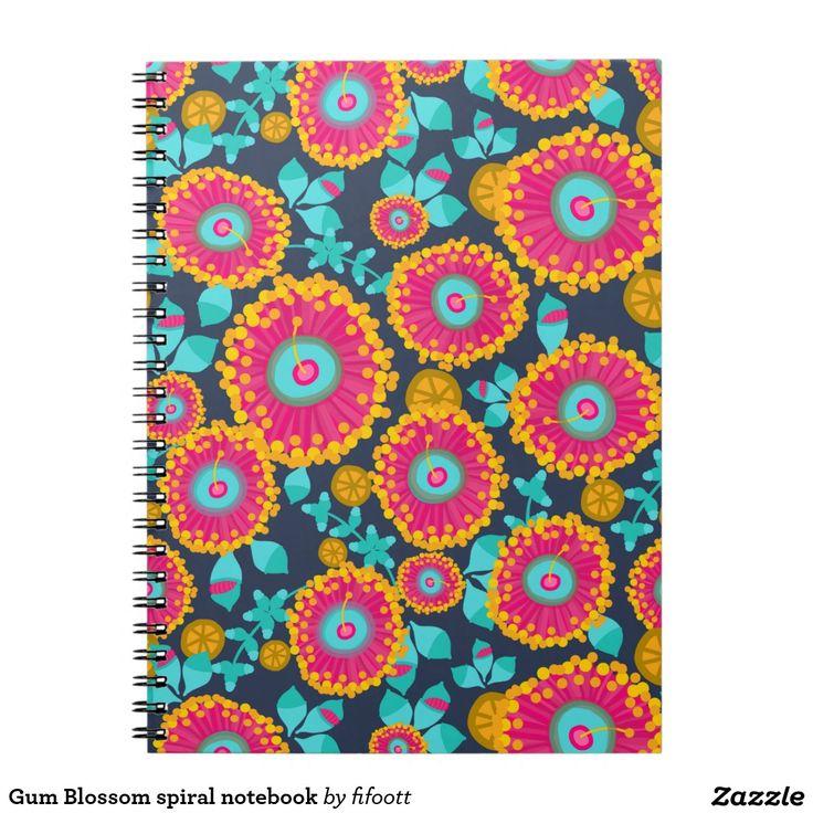 Gum Blossom spiral notebook