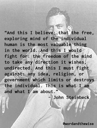 From East of Eden by John Steinbeck. Hands down one of the most beautiful…