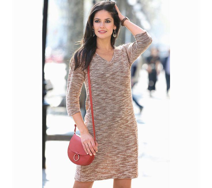 Meltonové žíhané se šaty se 3/4 rukávy | modino.cz #modino_cz #modino_style #style #fashion #newseason #autumn #fall