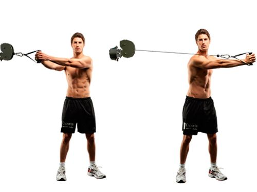 Cable Woodchoppers are one of the top ab exercises to hit the obliques and rectus abdominis (aka the six-pack muscles) hard, while keeping the intensity up. That burns fat and calories, and revs metabolism, too.