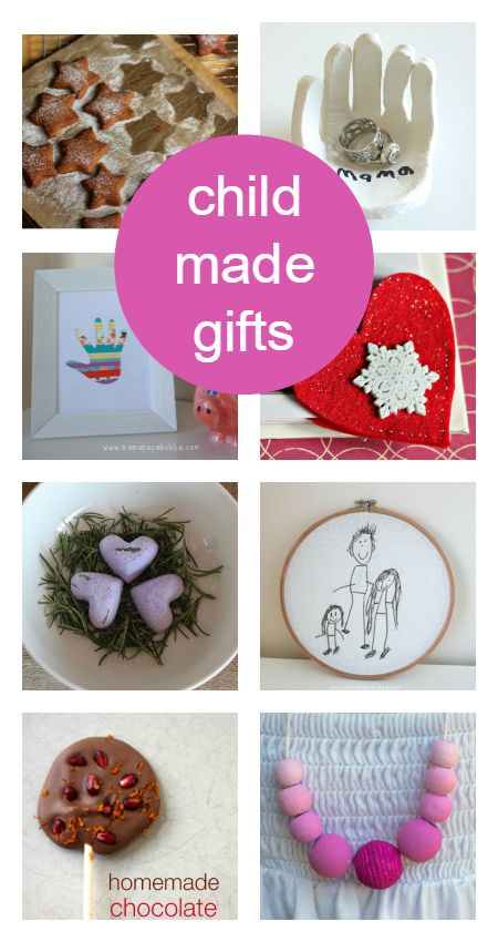 Homemade Christmas presents kids can make. Lovely kids Christmas crafts