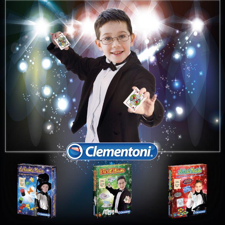 Una collezione di 60 trucchi per piccoli maghi con degli effetti spettacolari:la bacchetta magica, il re dell'illusione, le carte magiche #magia #giochidimagia #illusioni #piccolimaghi #giochi #giocattoli #toys #giochidatavolo #giochisocieta by #clementoni #giochiclementoni