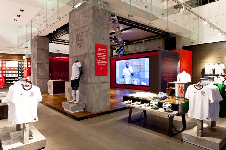 Sports Store   Retail Design   Shop Interior   Sports Display   Nike England Football Kit Campaign by Rosie Lee