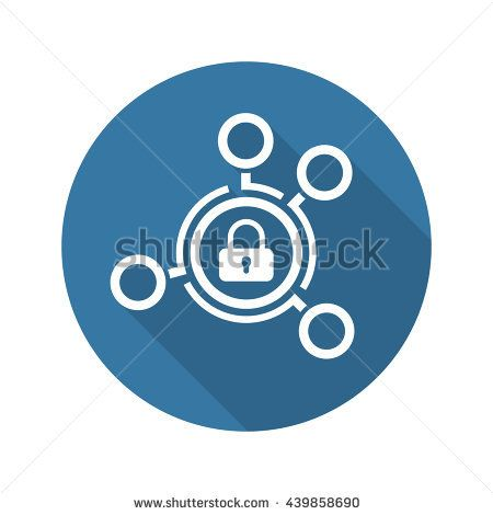 Group Security Icon. Flat Design. Business Concept. Isolated Illustration.