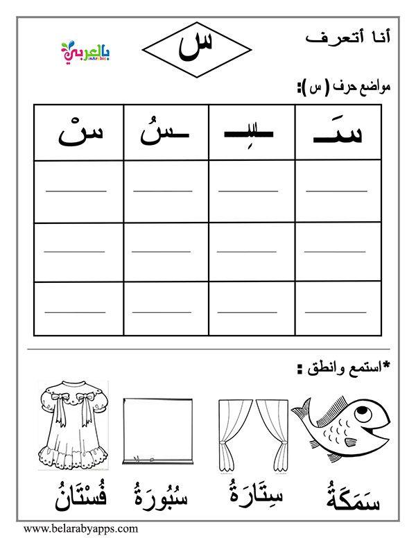 Arabic Letter Beginning Middle End Worksheets بالعربي نتعلم Arabic Worksheets Arabic Alphabet Learn Arabic Alphabet