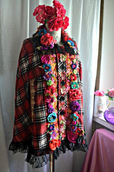Hippie Clothes – Romantic bohemian bolero poncho  – a unique product by IrinaBohemianDance on DaWanda
