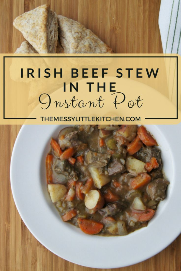 Irish Beef Stew in the Instant Pot: Perhaps you're planning an Irish themed party, or simply looking for ideas for St. Patrick's Day dishes. Regardless, this delicious, fast and easy Irish Beef Stew in the Instant Pot is one that you can throw almost effortlessly into your pressure cooker and it is sure to become a new family favourite! Hearty, loaded with veggies, and requiring only a few minutes of preparation for a delicious, rich flavour as though it was simmering all day!