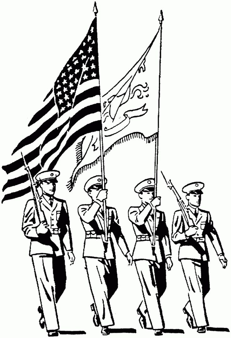 Free printable coloring pages veterans day - Armed Forces Day Coloring Pages Free Large Images