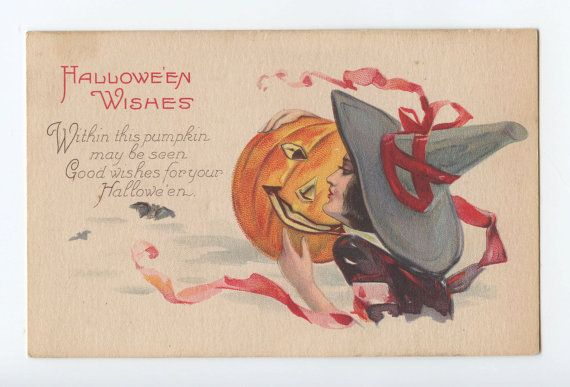 Very Sensual Lady In Red Witch  Caressing A Very Happy Jacku0027O Lantern! Scary  HalloweenHappy HalloweenHalloween WishesHalloween ...
