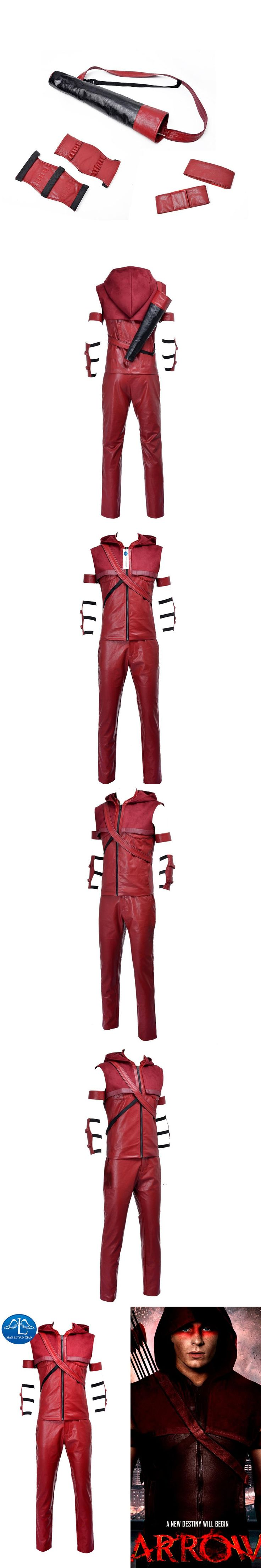 MANLUYUNXIAO New Arrival Movie Character Red Arrow Speedy Arsenal Roy Harper Cosplay Costume For Men Custom Made