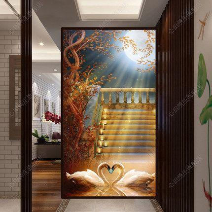Лебединое озеро алмазов проведите вертикальную версию нового входа женихов стежка вышитые алмаз свадебного торжества участник полный алмазного бурения