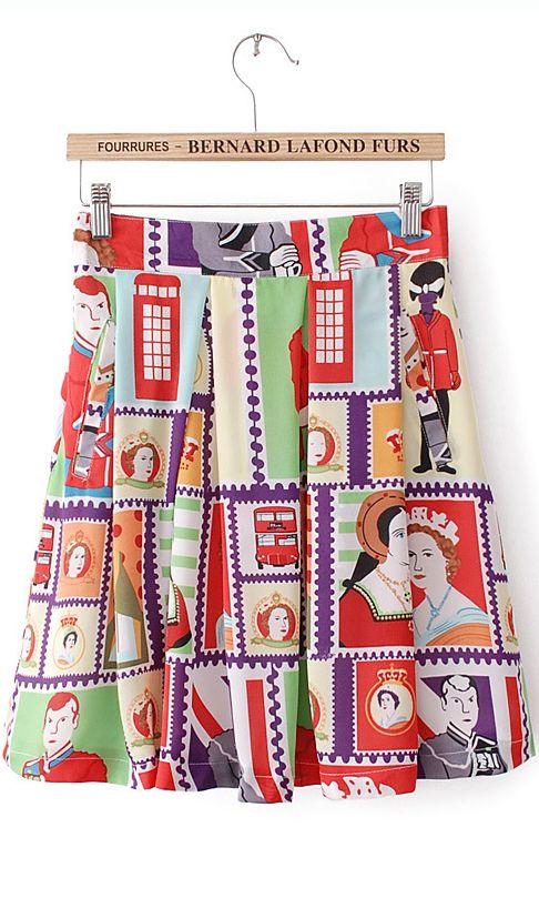 Geometric print full-skirted dress.. I love the pattern of this! :)