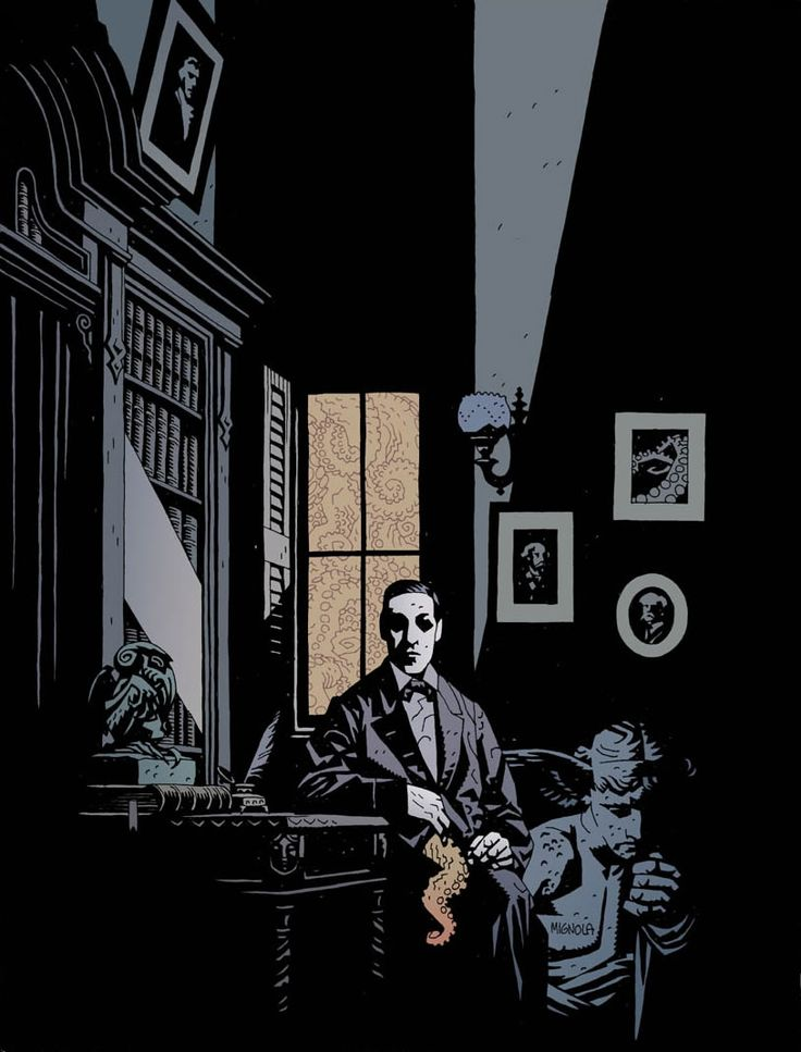 H.P. Lovecraft (Here made by Mike Mignola)