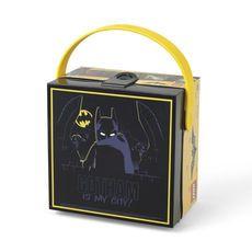 "LEGO DC Comics Batman ""Gotham Is My City!"" Square Lunch Box with Handle"