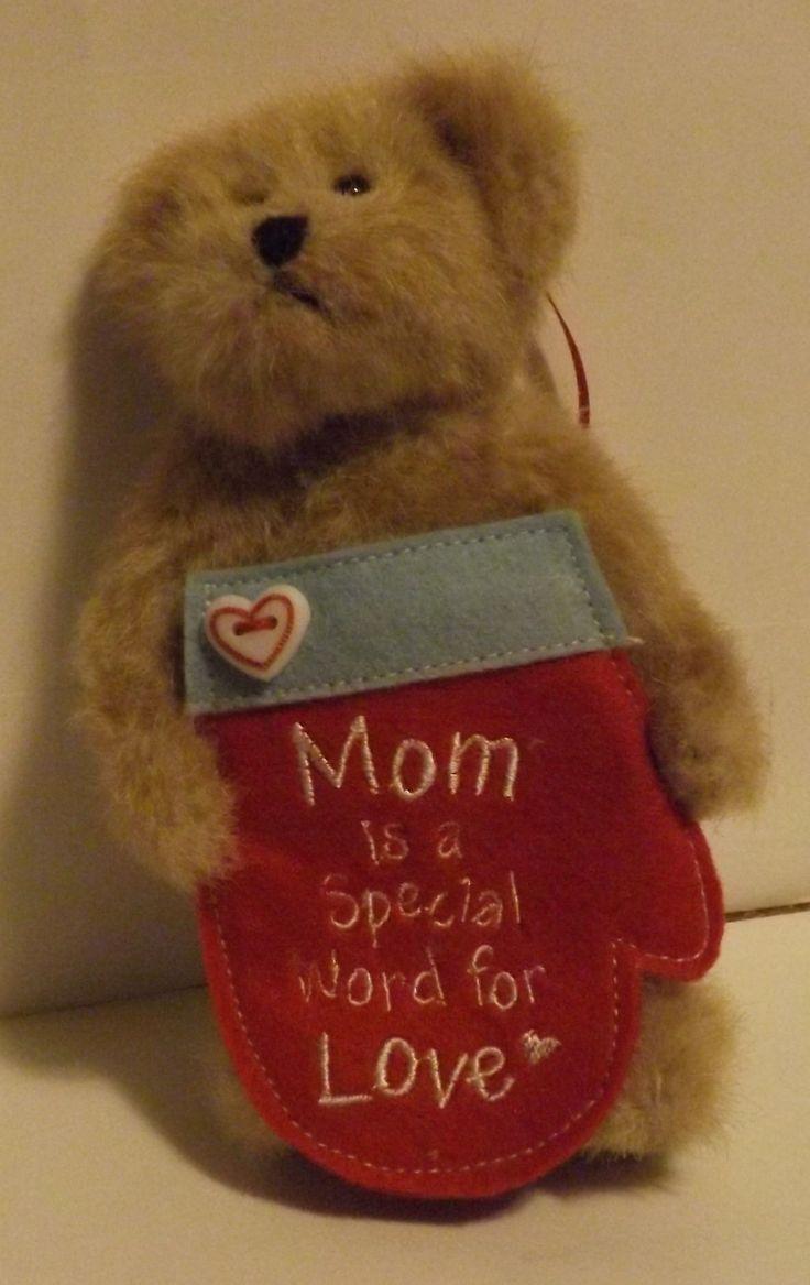 Boyds Bear Plush Ornament Lil' Momma