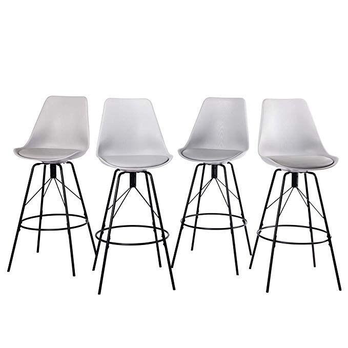 Amazoncom Changjie Furniture Low Back Metal Bar Stool For Indoor