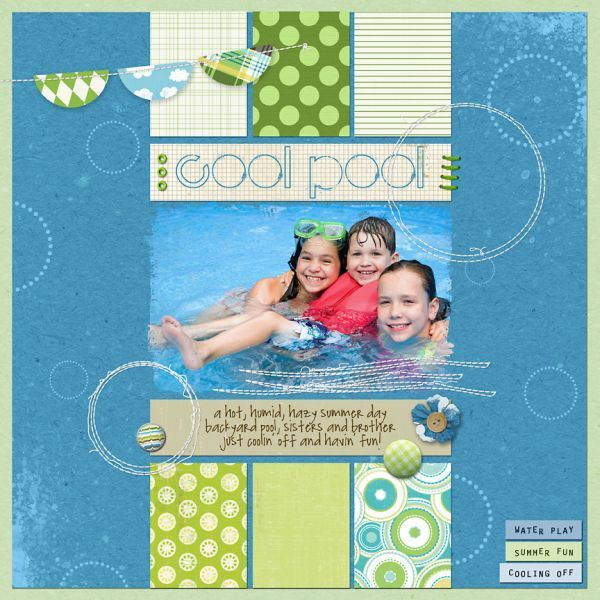 cute way to use scraps-neat layout