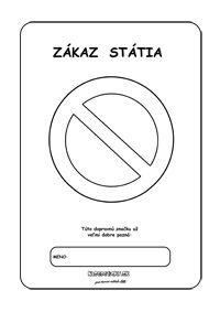 Dopravné značky - omaľovánky - zákaz státia