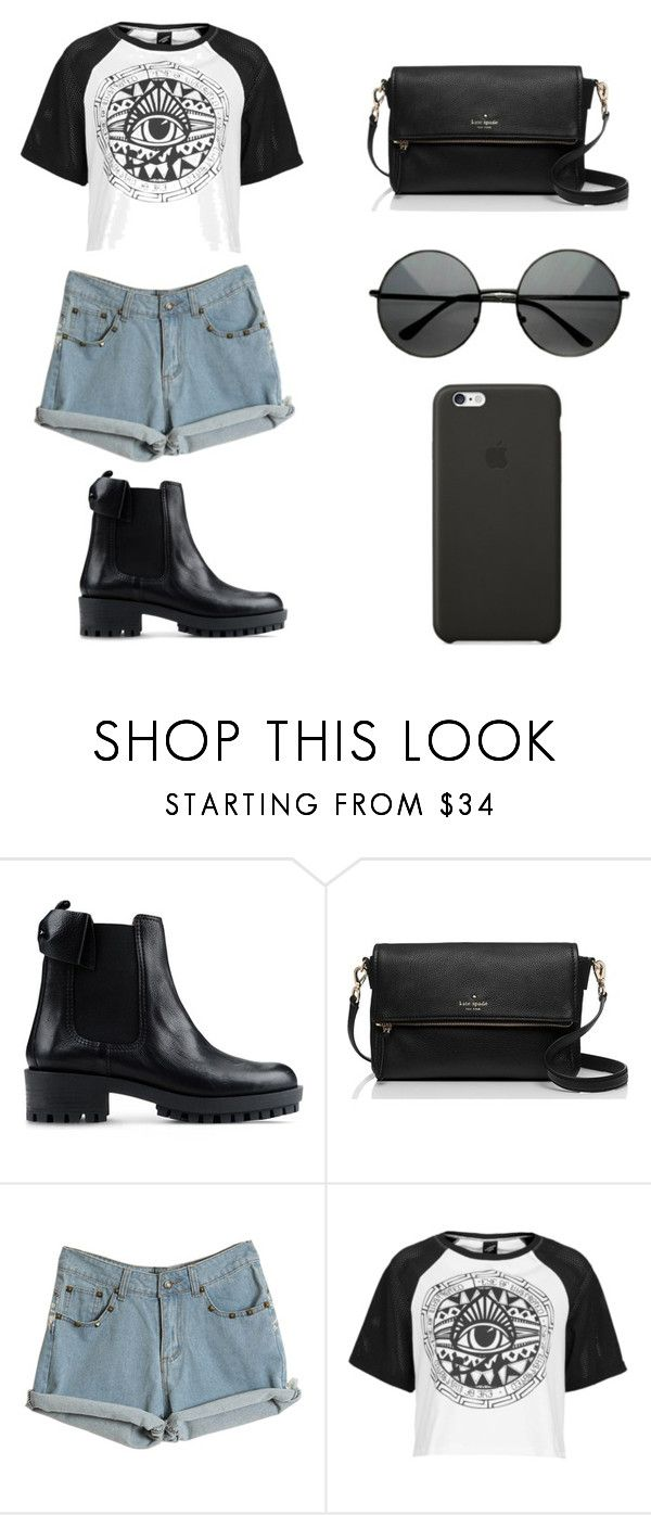 """""""Untitled #80"""" by karenrodriguez-iv on Polyvore featuring RED Valentino, Kate Spade, Illustrated People, Black Apple, women's clothing, women, female, woman, misses and juniors"""