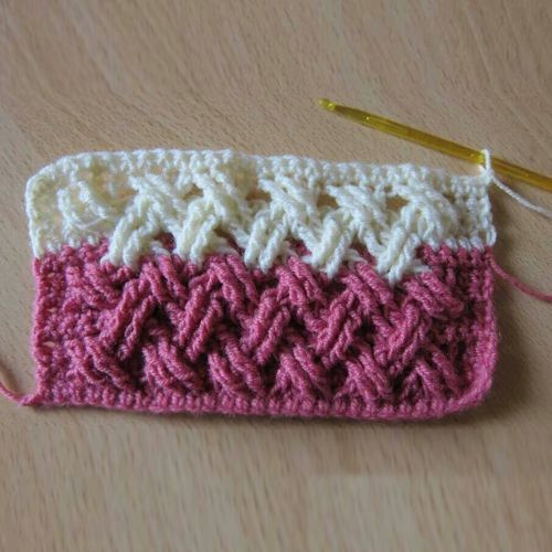 Knitting Quilt Stitch : Beautiful interweave cable stitch crochet tutorial