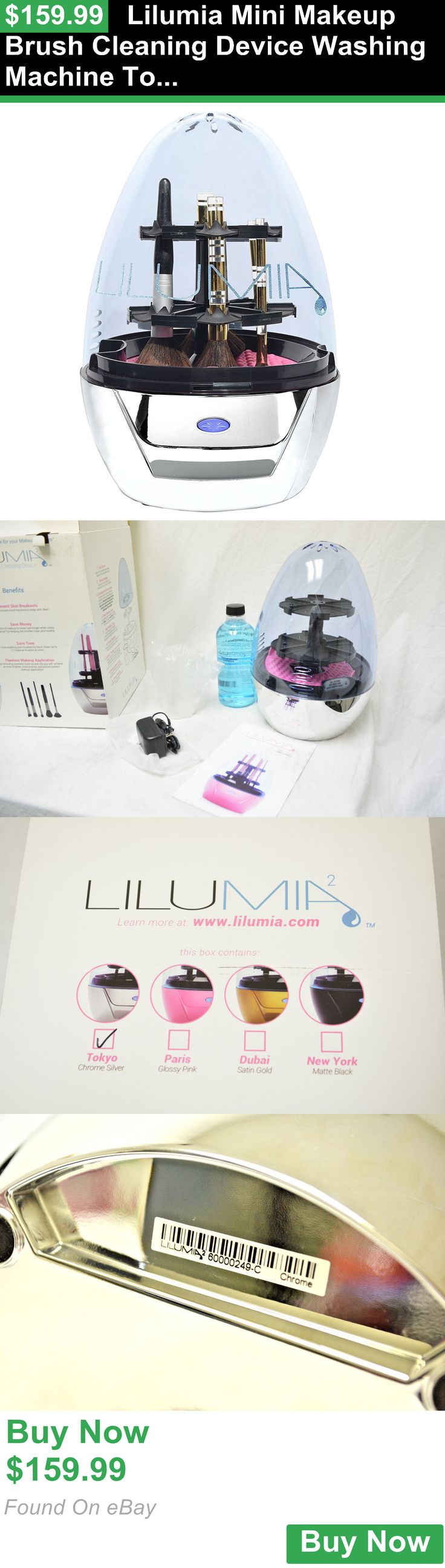 Brush Cleaners 159805: Lilumia Mini Makeup Brush Cleaning Device Washing Machine Tokyo Chrome Silver BUY IT NOW ONLY: $159.99