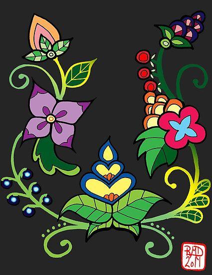 ojibwe beadwork patterns | mylittlenative › Portfolio › floral design # 6