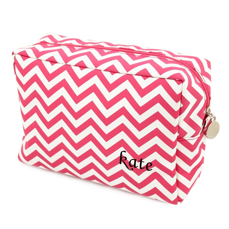 Chevron Spa Bag | #exclusivelyweddings (available in other colors) | #pinkwedding