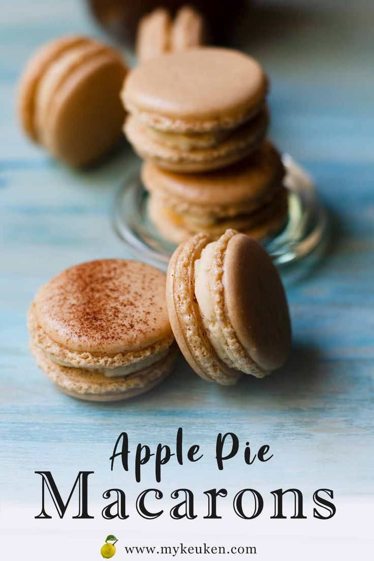 Apple pie macarons using apple tea to give the macaron shells, a subtle hint and taste of apple. It's ok, I get it! You…