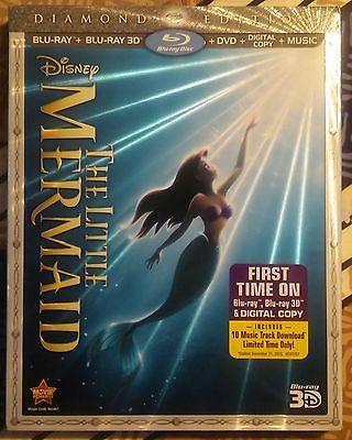 The Little Mermaid Diamond Edition blu-ray + Blu-ray 3D + Digital copy + Music