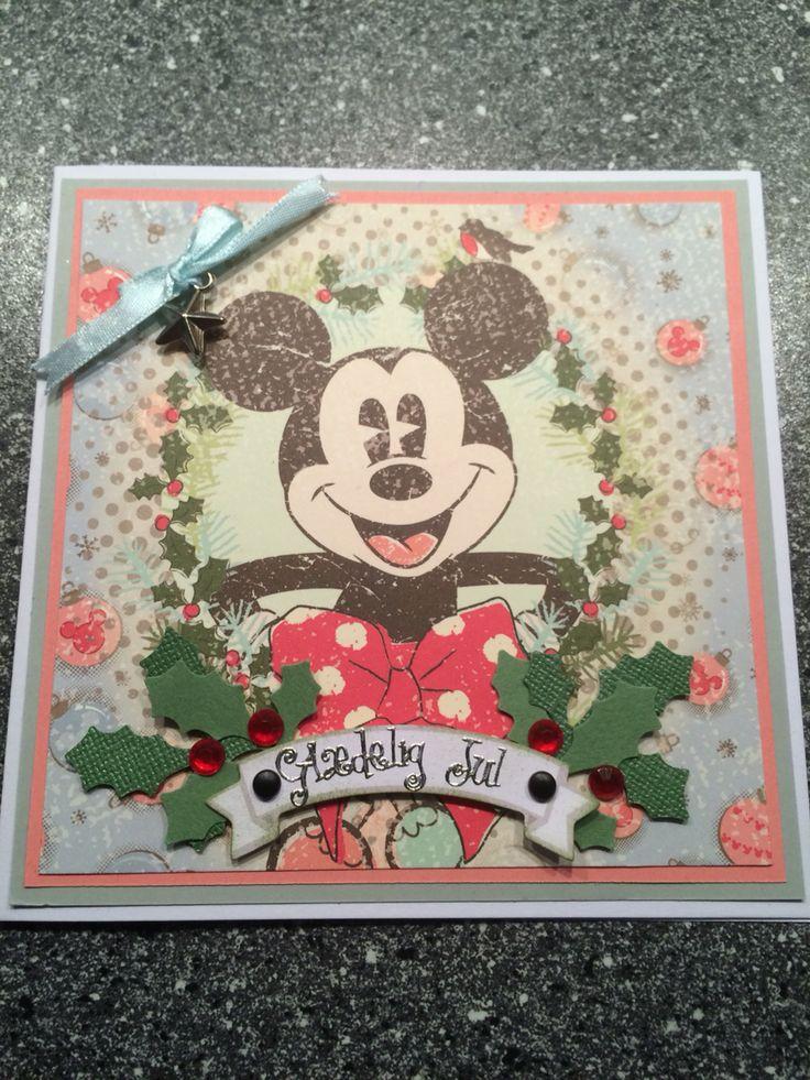 Julekort / Christmas card Mickey mouse