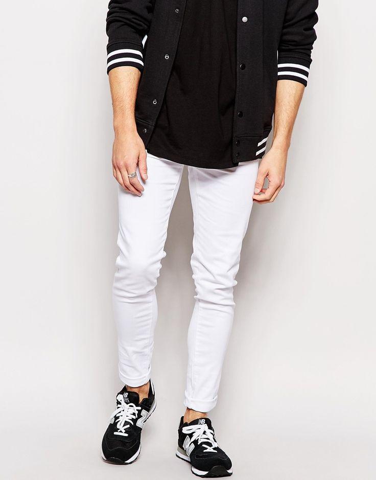 Image 1 - Waven - Erling - Jean moulant super skinny effet rapiécé exclusivité ASOS - Blanc pur