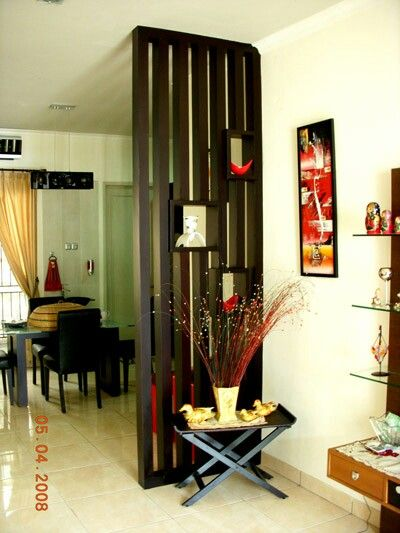 Best 25 wood partition ideas on pinterest divider wooden partitions and partition ideas for Living room partition designs in indian