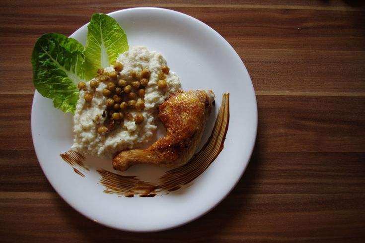 Cauliflower Mash with Pan Fried Chickpeas