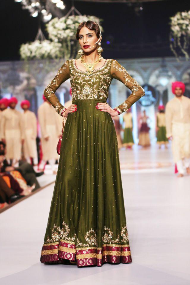 Demure in green, beautiful Anarkali by @zaheerinfo LOVE IT