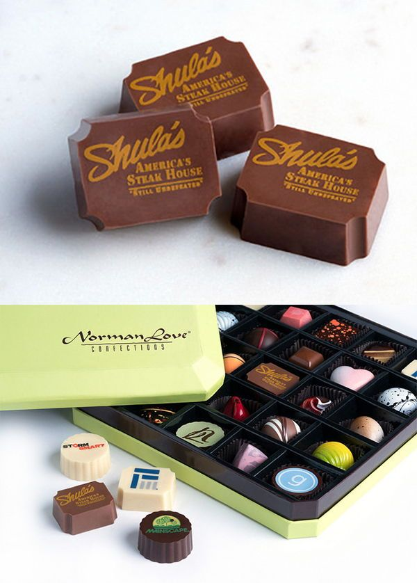 Custom Logo Or Monogrammed Chocolates By Norman Love Confections