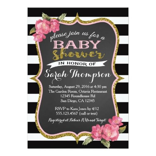 best pink baby shower invitations images on   baby, Baby shower