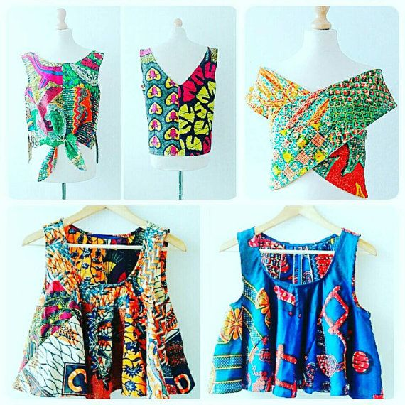 African print crop Top African clothing African by Sosomeshop