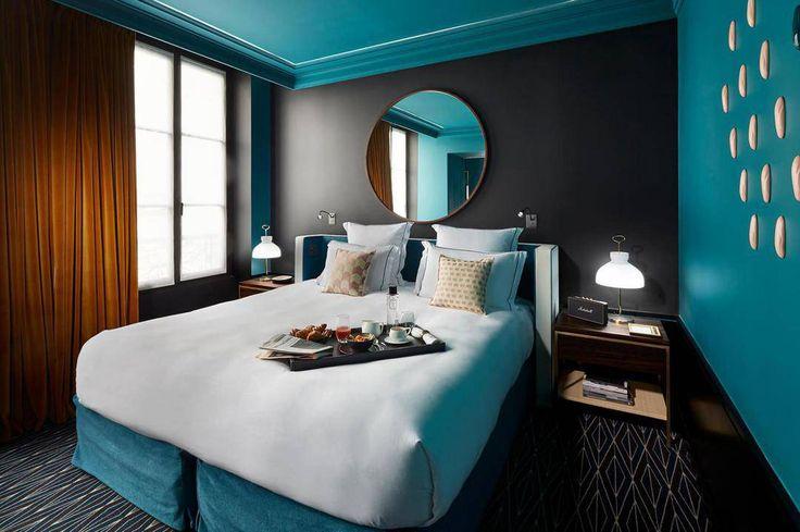 Если вы отправляетесь в путешествие - парижский шик отеля Le Roch Активная ссылка на статью в профиле страницы @faqindecor #дизайн #интерьер #архитектура #искусство