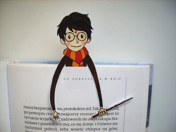 Harry Potter printable bookmark - you will get a digital file for printing bookmark, 300 dpi high resolution, jpg and pdf format. Instant download,