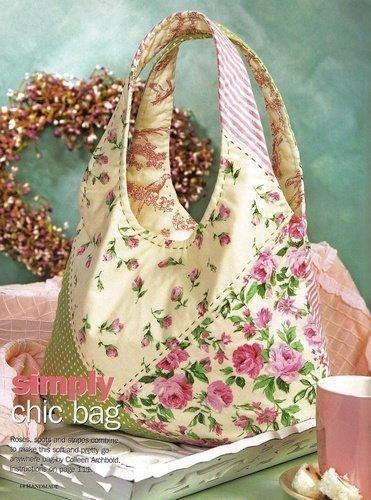 FONTE  http://fuxicodicas.blogspot.com/2009/11/bolsas-tecidos.html                  Artesanato.Revistas, Moldes e Dicas   Bolsa/mala      ...