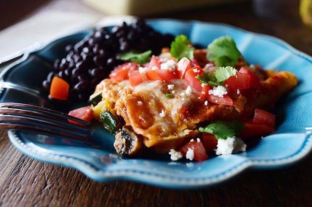 Grilled Veggie Enchiladas